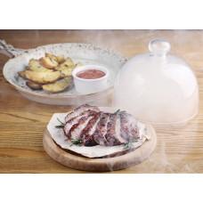 Стейк зі свинини з запеченою картоплею і травами